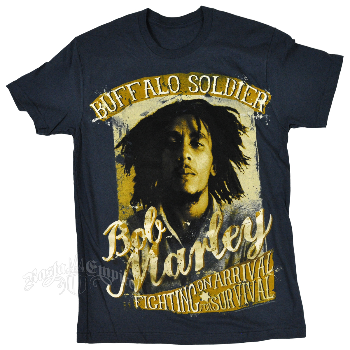 Bob Marley Buffalo Soldier Fighting Indigo T-Shirt - Men's