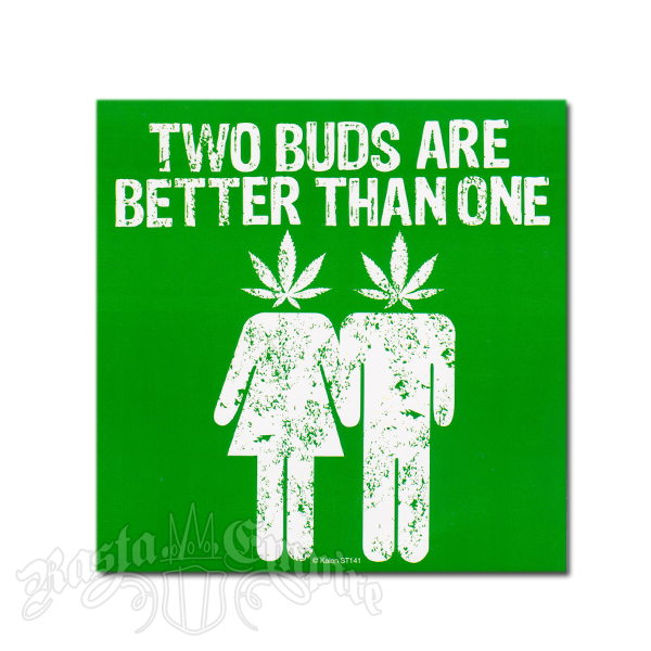 Two Buds Are Better Than One Sticker