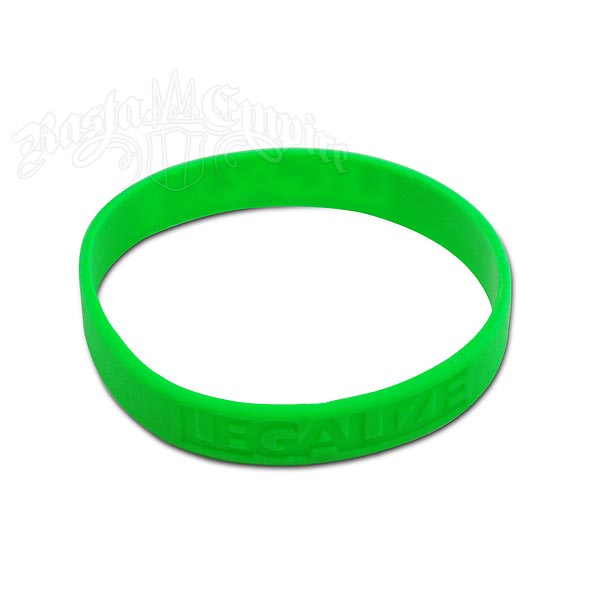 Embossed Legalize Silicone Rubber Band Bracelet