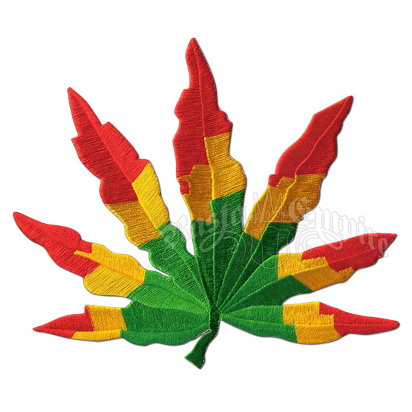 Rasta Leaf Patch - Large