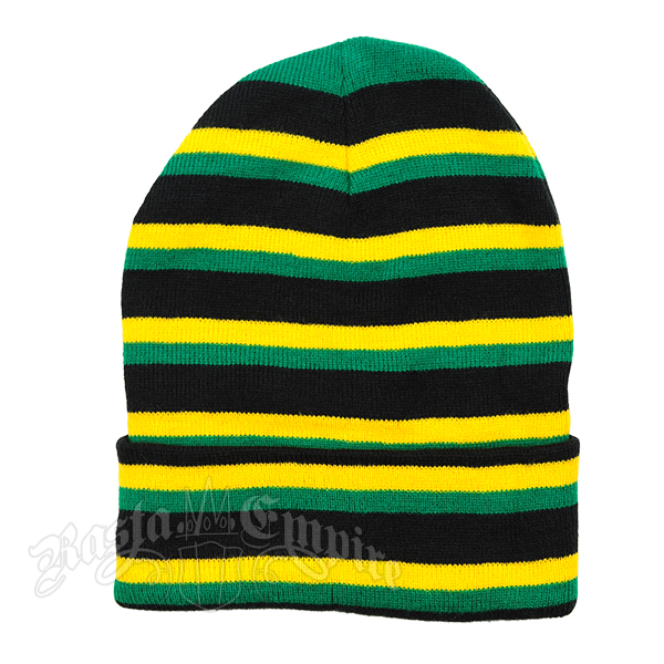 Jamaican Striped Long Beanie