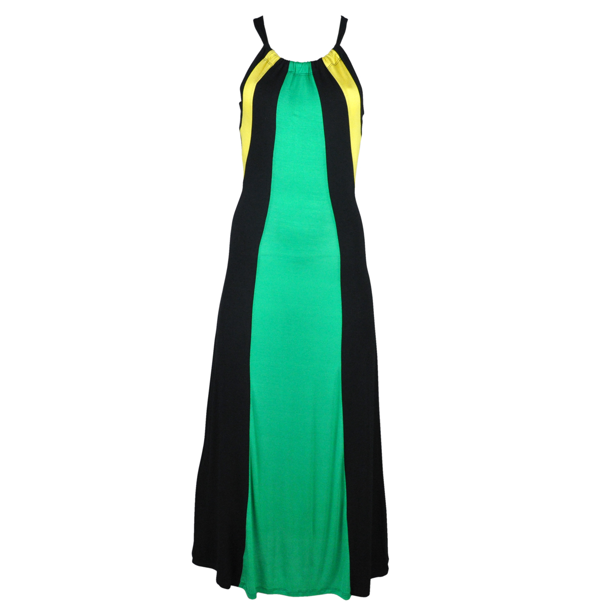 Jamaican Drawstring Racerback Maxi Dress
