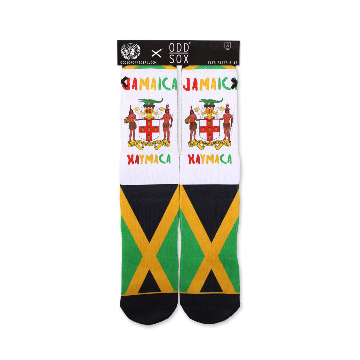Jamaican Flag Socks