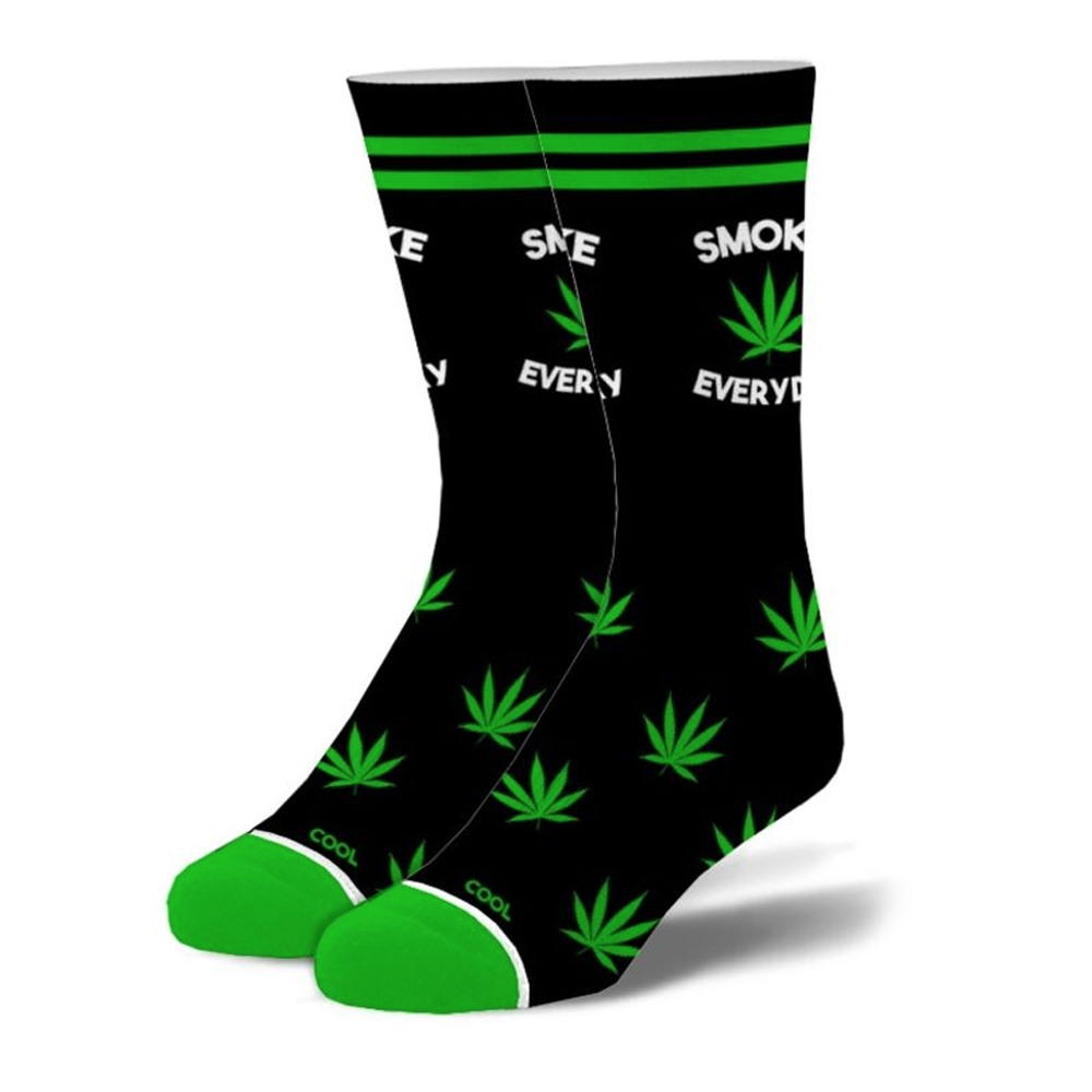 Smoke Everyday Weed Crew Socks - Men's