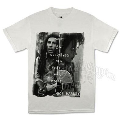 Bob Marley Redemption Free Our Minds White T-Shirt - Men's