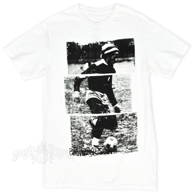 Bob Marley Soccer 77 White T-Shirt - Men's