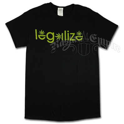 Legalize Black T-Shirt - Men's