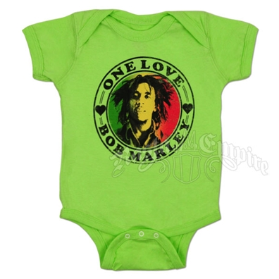 Bob Marley One Love Heart Creeper - Lime Green