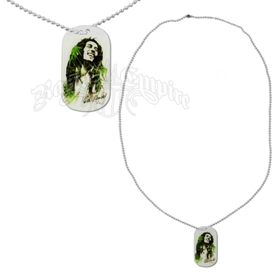 Bob Marley Leaves Dread Dog Tag