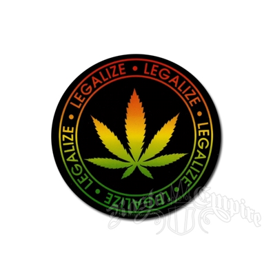 Rasta Legalize Leaf Sticker