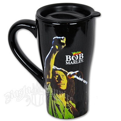 Bob Marley Fist 18oz Ceramic Travel Mug