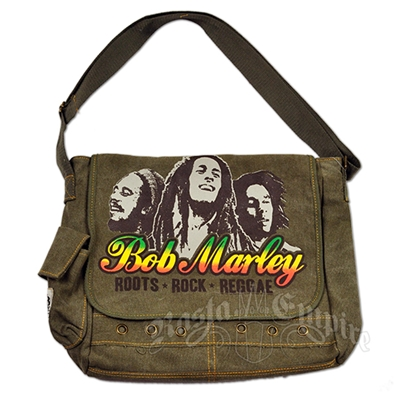 Bob Marley Roots Rock Reggae Messenger Bag