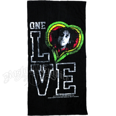 Bob Marley One Love Smile Beach Towel