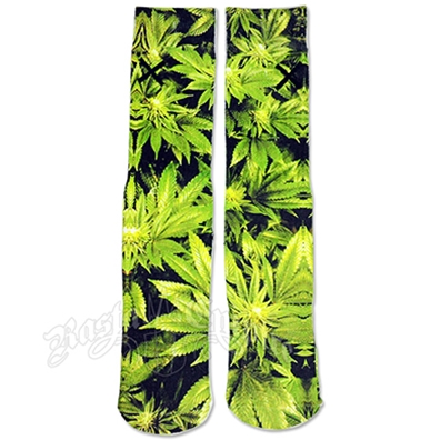 Trees Marijuana Socks