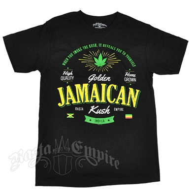Seven Leaf  Golden Jamaican Strain Black T-Shirt – Men's