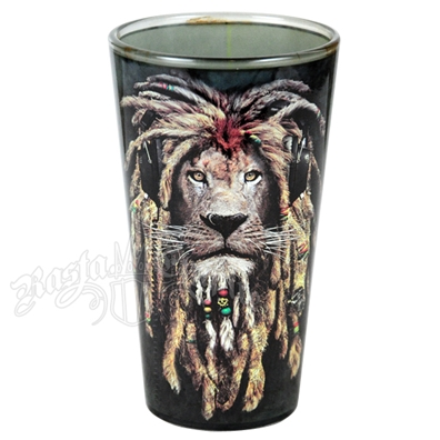 Rasta DJ Lion Pint Glass