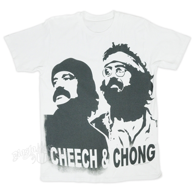 Cheech & Chong Stencil White T-Shirt - Men's