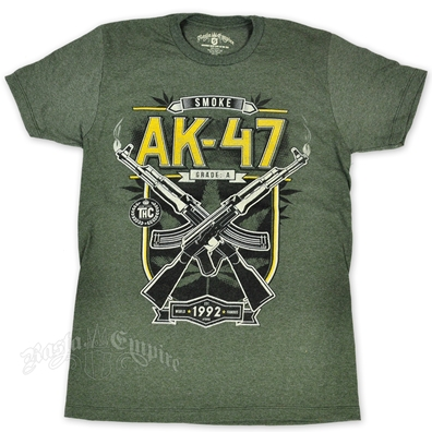 Seven Leaf AK-47 Strain Heather Military Green T-Shirt – Men's