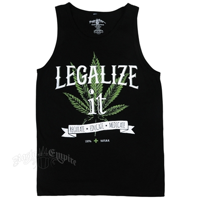 Seven Leaf Legalize It Black Tank Top - Men's