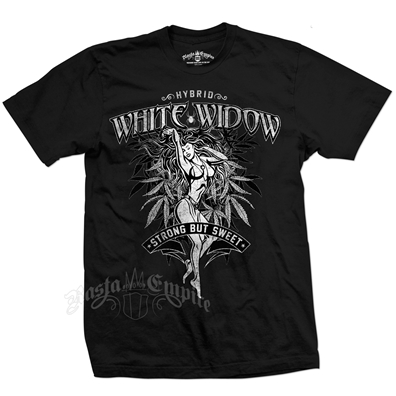 Seven Leaf White Widow Strain Black T-Shirt – Men's