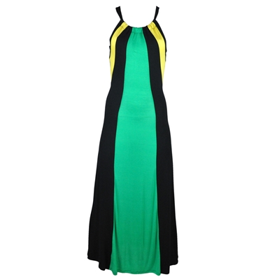 Jamaican Drawstring Razorback Maxi Dress