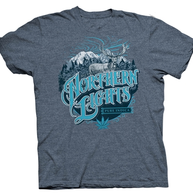 Seven Leaf Northern Lights Strain Black Light Russian Blue T-Shirt – Men's