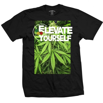 Seven Leaf  Elevate Yourself Black T-Shirt – Men's