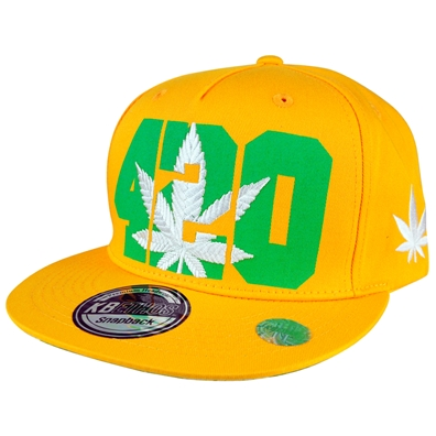 420 Pot Leaf Hat - Yellow
