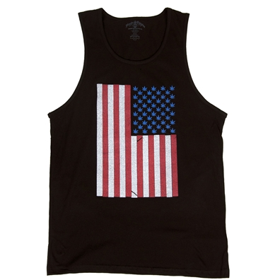 SevenLeaf American Weed Flag Tank Top