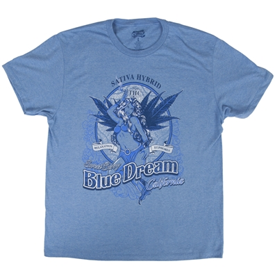 Blue Dream cannabis strain t-shirt