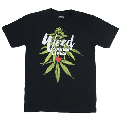 Weed Saves Lives Men's T-Shirt by SevenLeaf.com