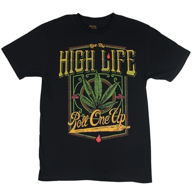 High Life Men's Marijuana T-Shirt by SevenLeaf.com