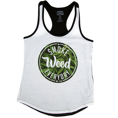 Ladies Smoke Weed Everyday Tank by SevenLeaf.com