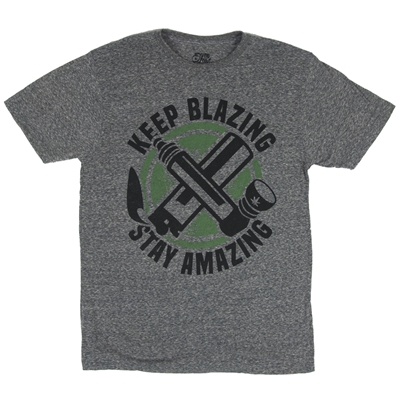 Keep Blazing Stay Amazing Marijuana T-Shirt by SevenLeaf.com