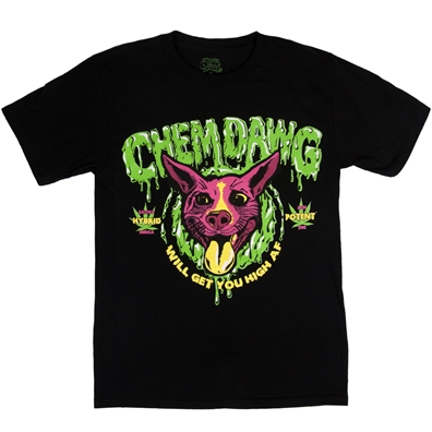 Seven Leaf Chemdawg Cannabis Strain Black T-Shirt – Men's
