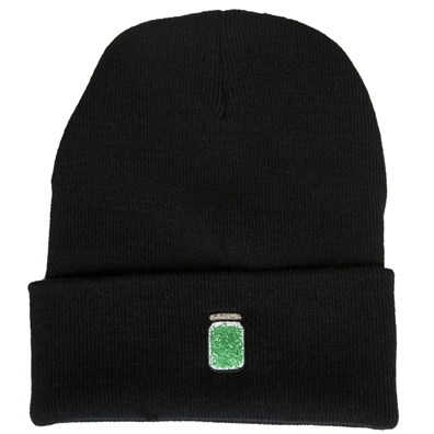 Marijuana Stash Jar Black Beanie