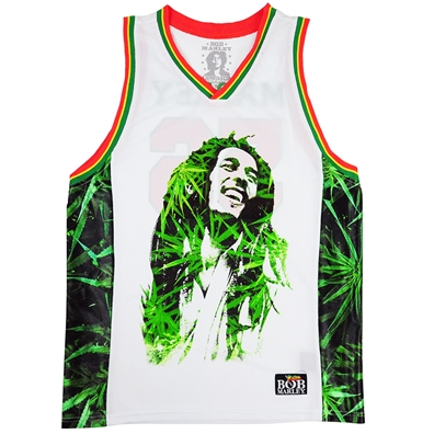BOB MARLEY LEAVES BASKETBALL JERSEY - MEN'S