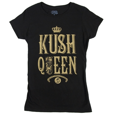 Seven Leaf Kush Queen Black T-Shirt - Women's