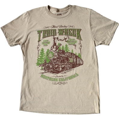 Seven Leaf Train Wreck Strain T-Shirt - Men's