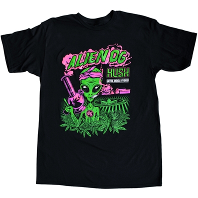 Seven Leaf Alien OG Kush Black Light Strain T-Shirt – Men's