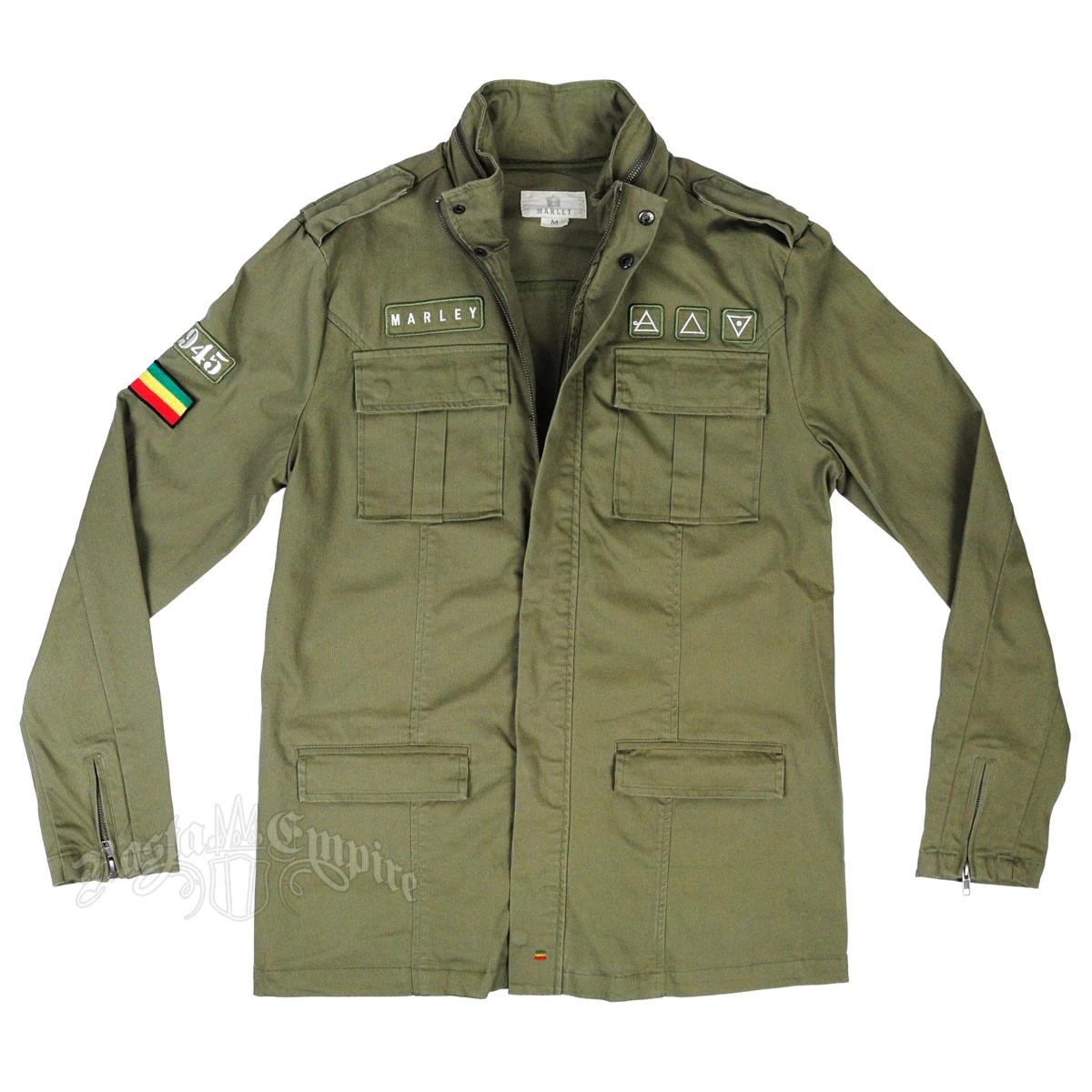 Marley Olive Green Military Jacket - Men's @ SevenLeaf.com