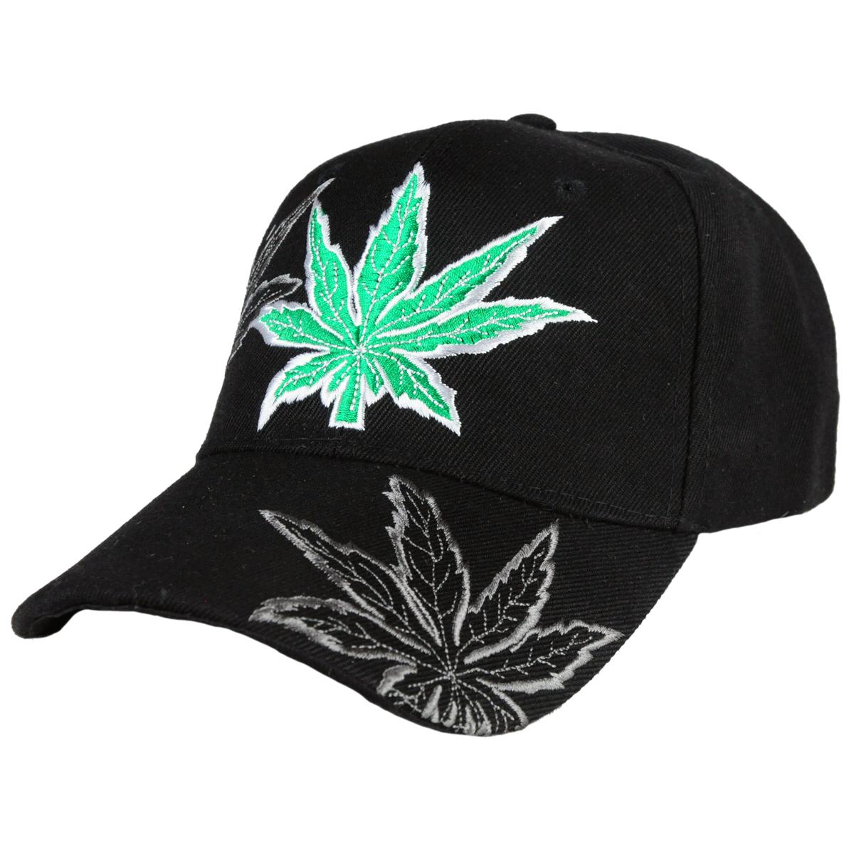 89bc13339ee Embroidered Weed Leaf Cap