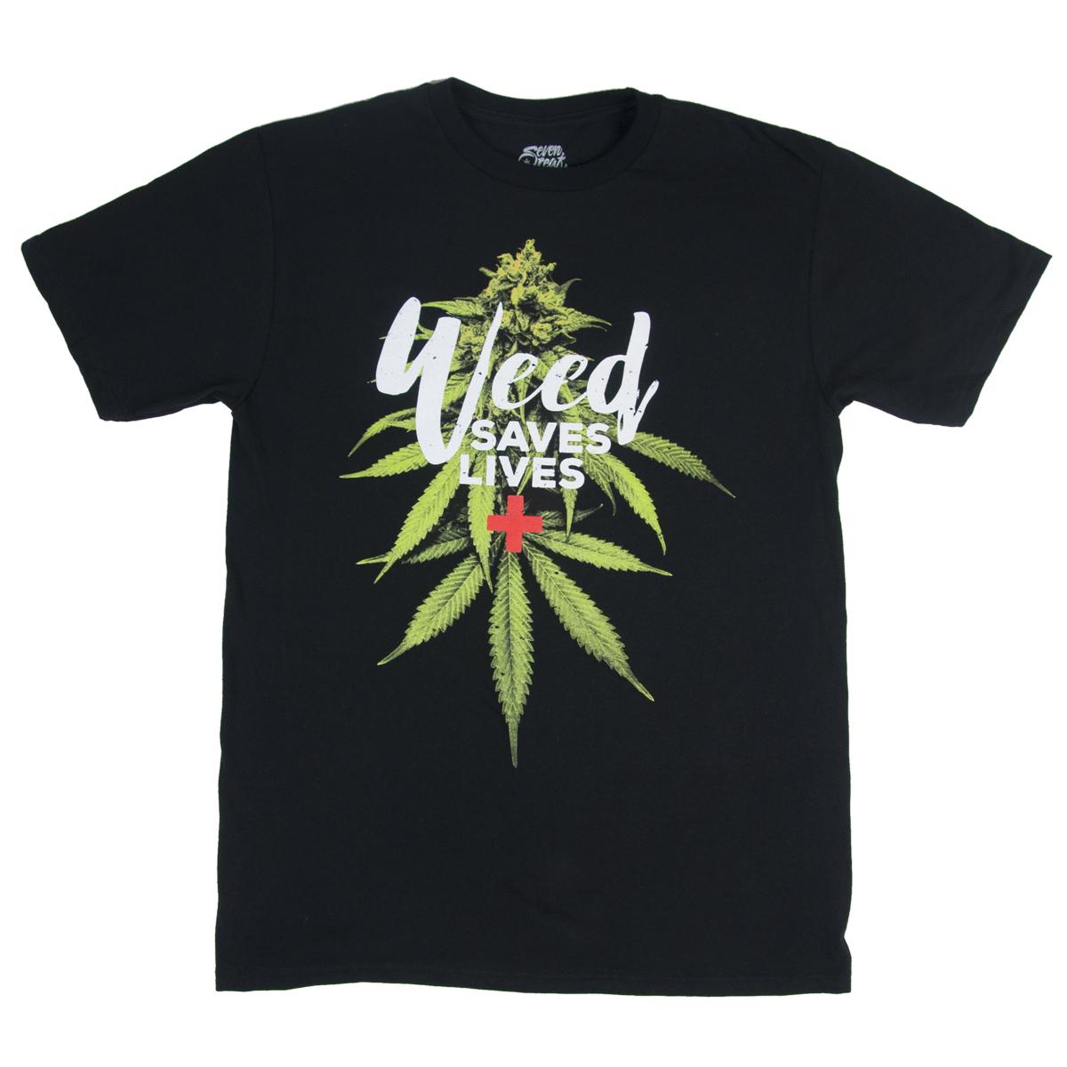 Weed Saves Lives Men S T Shirt By Sevenleaf Com